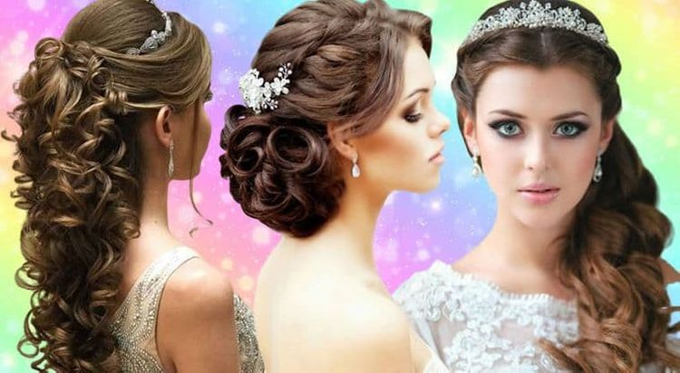 Long and bun hair styles for bridal