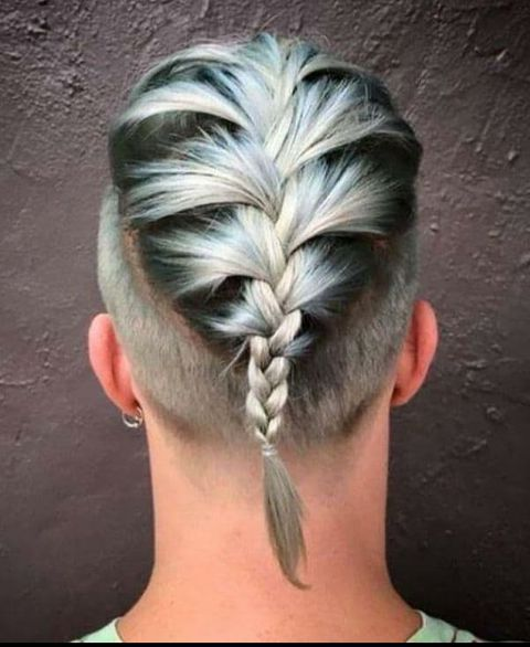 Fishtail ponytail with undercut