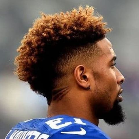 Fade mohawk for curly hair for men in 2021-2022