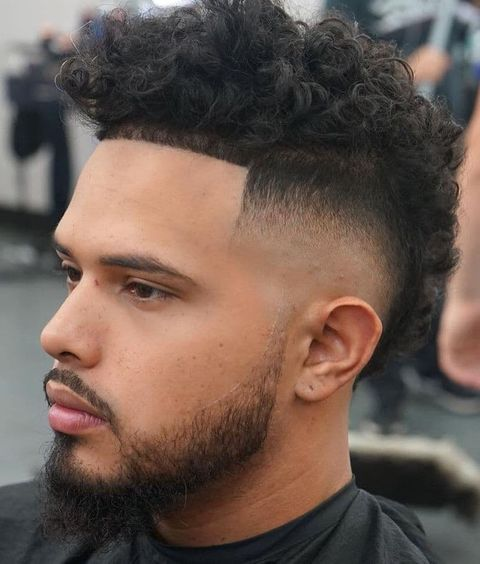 Low fade short mohawk haircut for men in 2021-2022