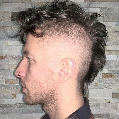 Thin hair + curly mohawk for men in 2021-2022