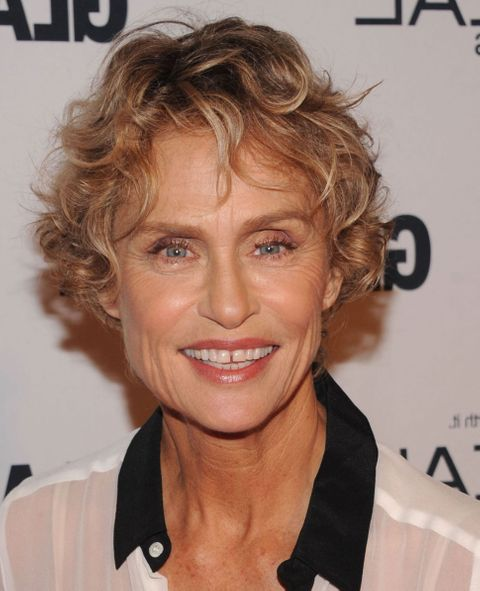 Brown hair color short curly haircuts for older women over 60