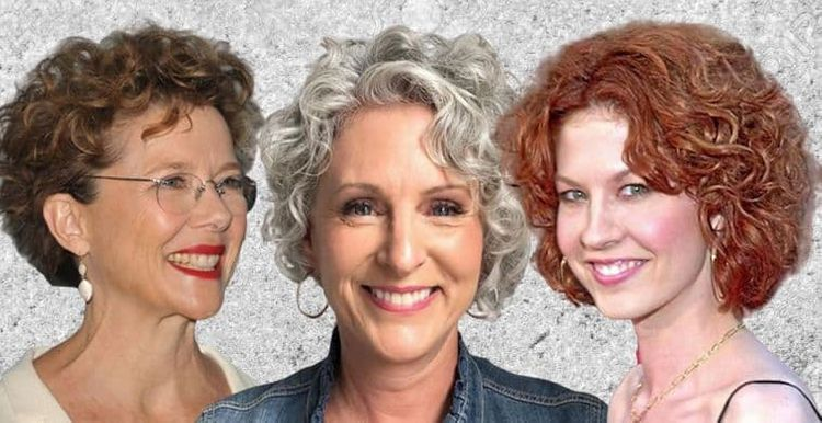 Different curly hairstyles for women over 50