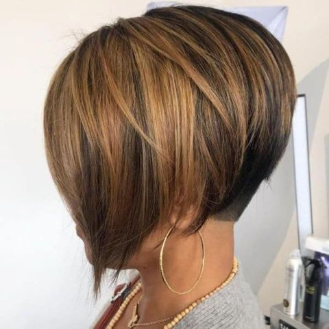 Balayage layered undercut bob for women in 2021-2022