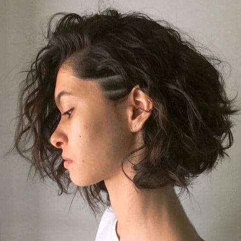Curly undercut short bob hairstyle for women in 2021-2022