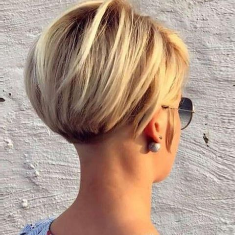 Layered bob with undercut for women 2021-2022