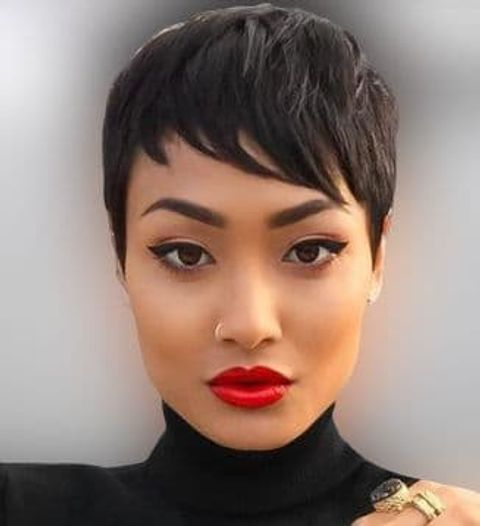 Cool short pixie haircut for black women in 2020-2021