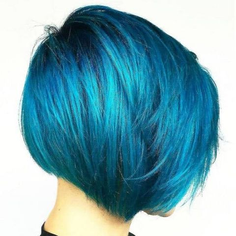 Blu hair color for short hair 2021-2022
