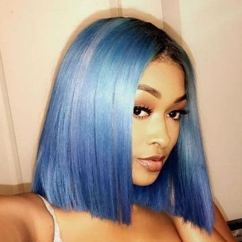 Blunt cut bob hairstyle for black women in 2021-2022