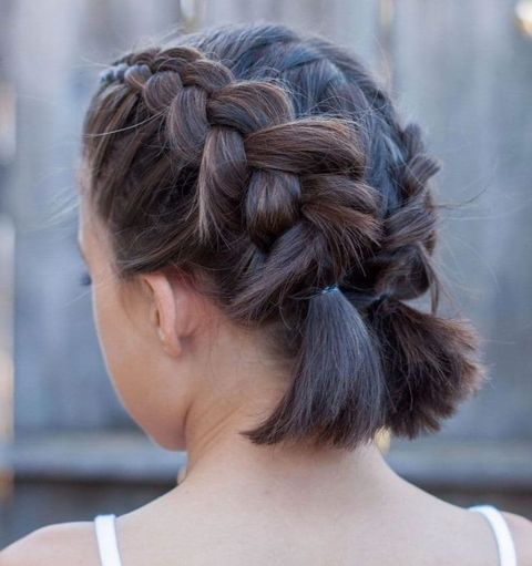 Double braids for short hair for women in 2021-2022
