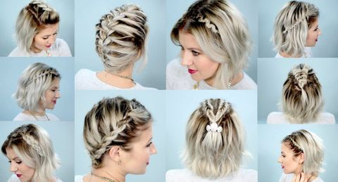 Easy braided hairstyle for school for women in 2021-2022