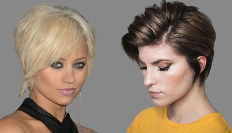 Side swept long pixie style for women over 30