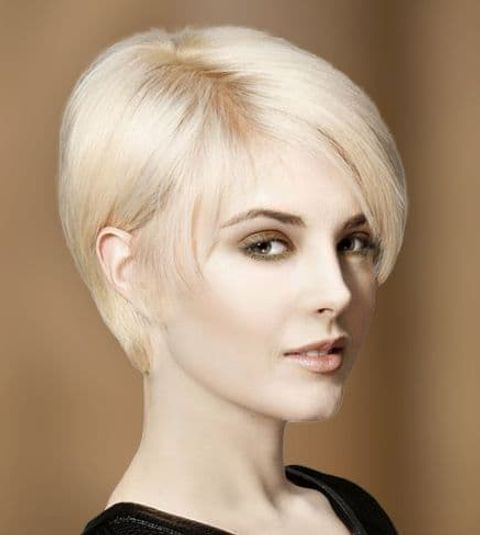 Straight hair style long pixie with thin hair