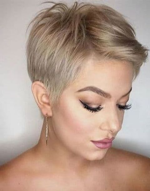 Balayage pixie cut for thin hair