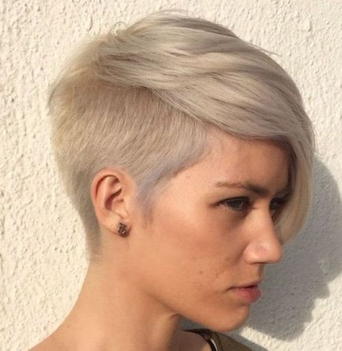 Fine hair undercut short hairstyle