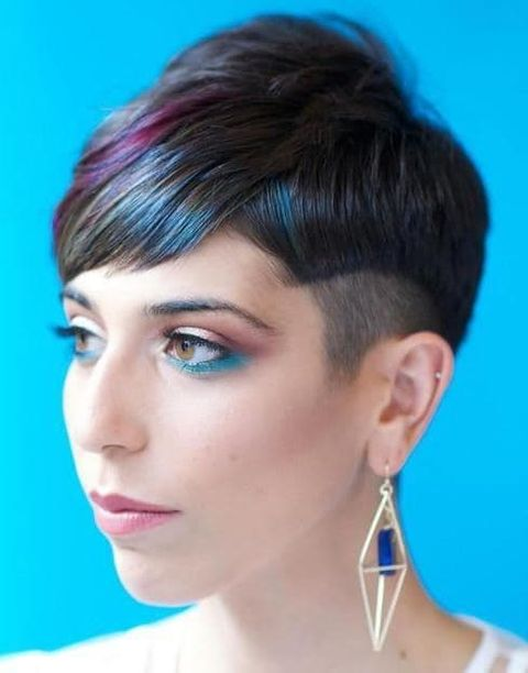 Highlight short undercut