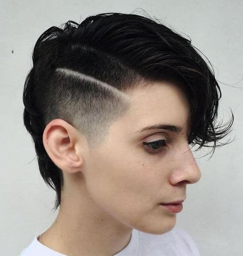 Line undercut short pixie cut