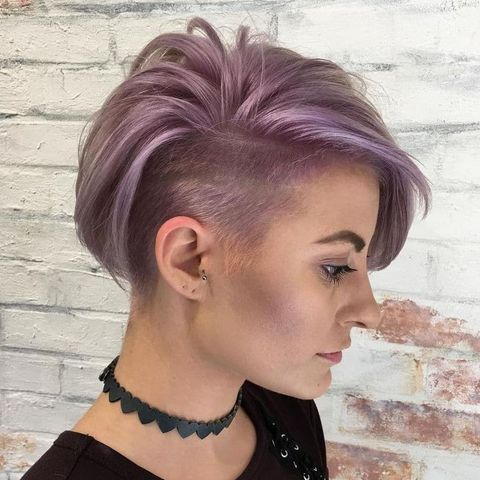 Pink thick hair with undercut
