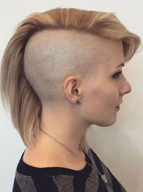 Undercut asymmetrical haircut