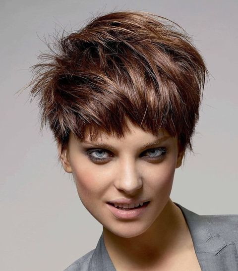 Messy layered pixie cut