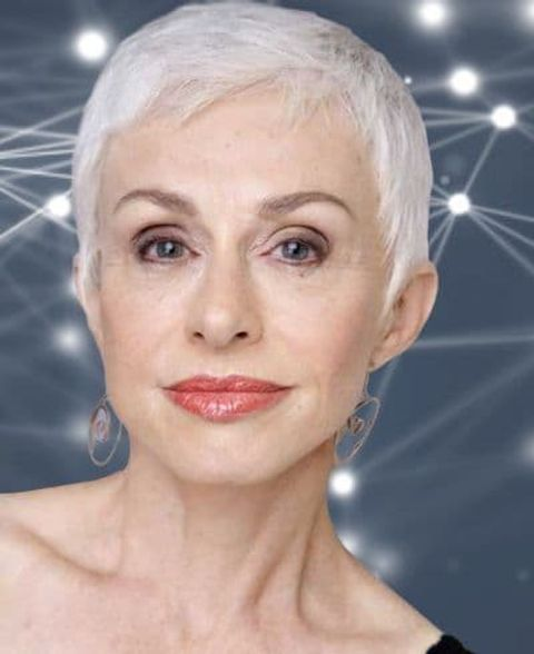 Very short pixie haircut for women over 60 with oval face
