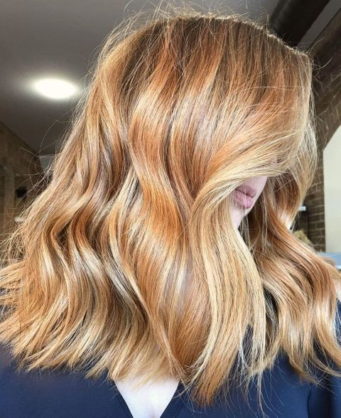 Bold Copper Blonde Hair Color