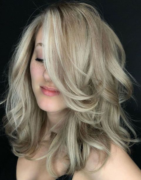 Pale Blonde Hair with Highlights
