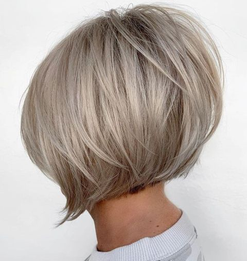 Icy Blonde Hair in a Short Bob