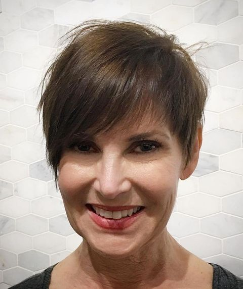 Short thin hair over 50