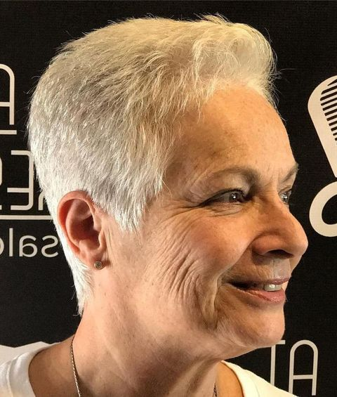 Very short pixie cut over 50