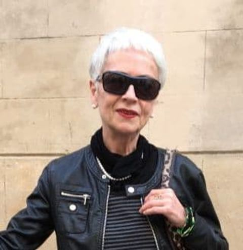 Grey pixie cut for older women over 60