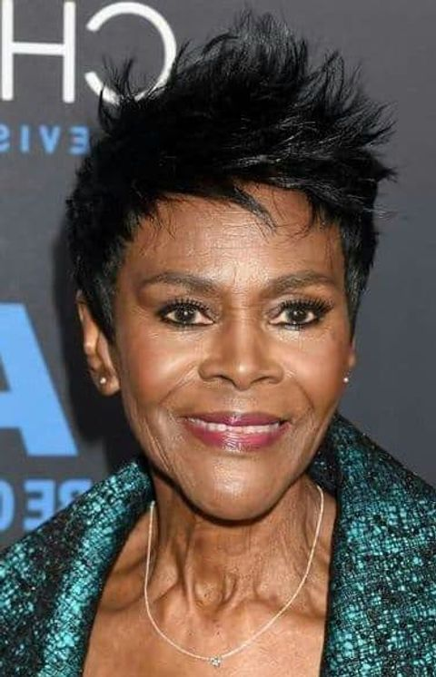 Modern black short hair over 60