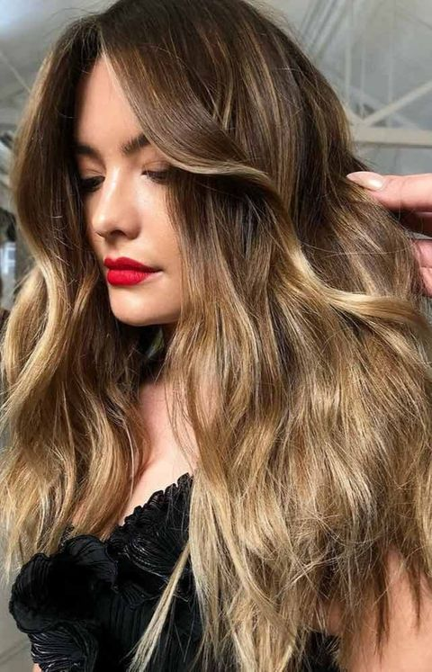 Blonde-To-Brunette Balayage