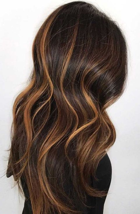 Deep Brown With Golden Streaks