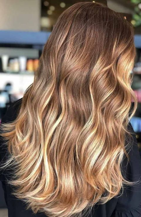Golden Brown Partial Highlights