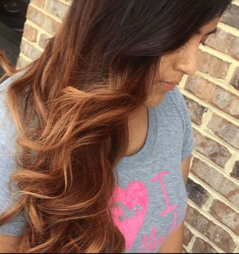 Copper Brown Hair Balayage