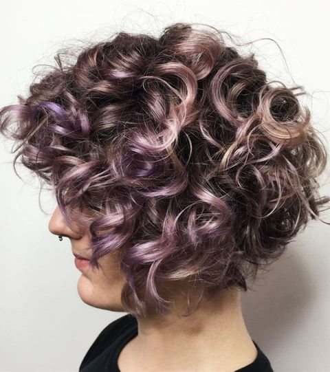 Muted Pink and Purple Waves