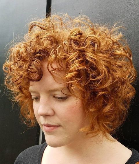 Red Frizzy Wavy Hair