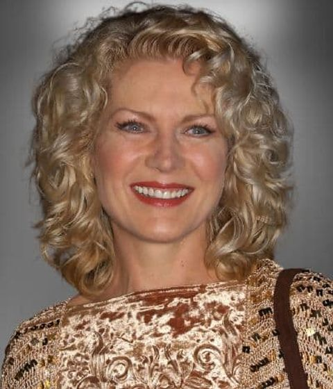 Soft curly hair over 50