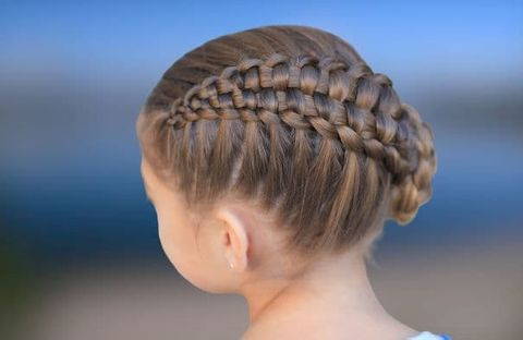 Easy braids bun hair