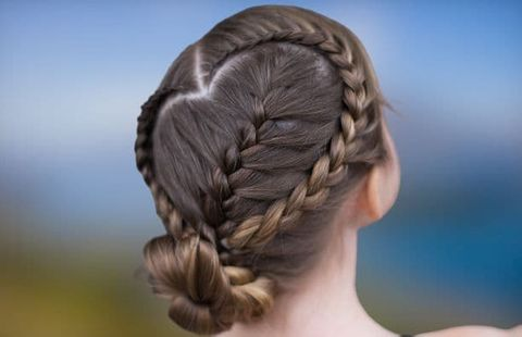 Heart-shaped braided hair