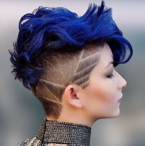 blue hair color shades for short hairstyles