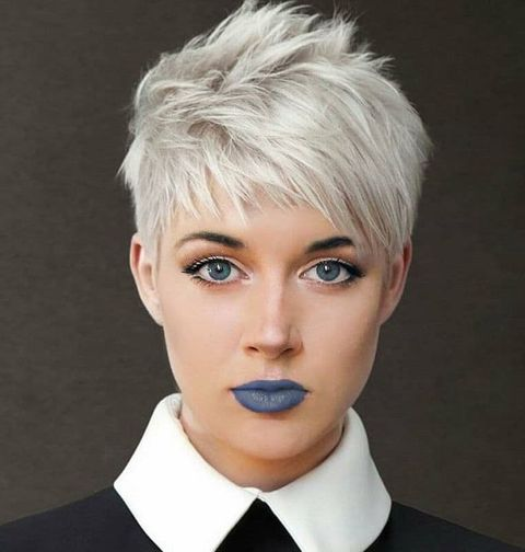 Spiky pixie haircut with bangs for women 2021-2022