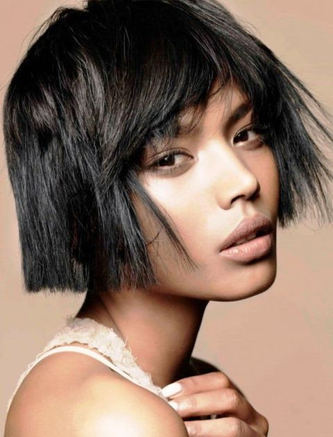 Blunt bob cut with bangs 2021-2022