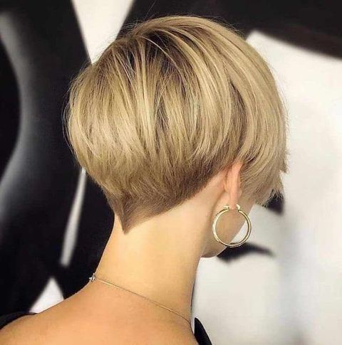 Back undercut short bob