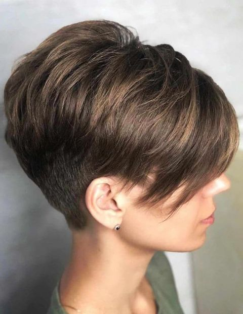 Undercut short bob cut for long face