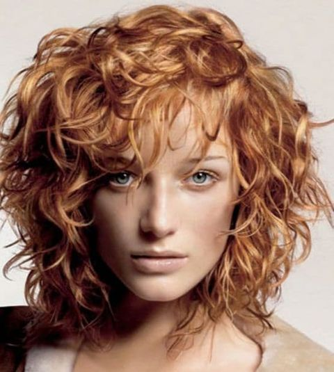 Light brown color curly bob cut 2021-2022