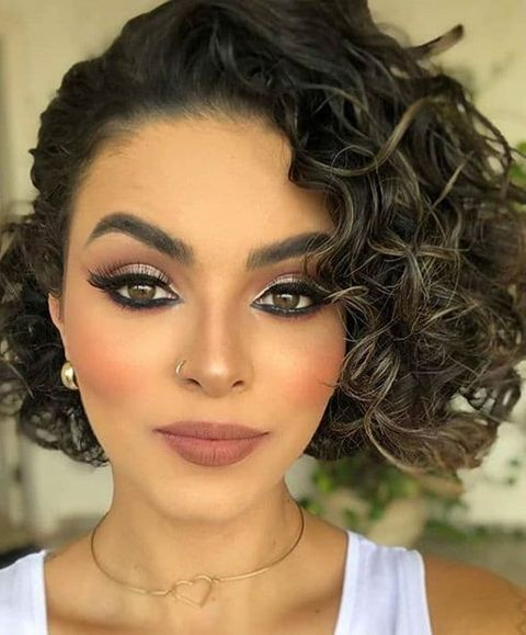 Cool curly balayage bob hairstyle in 2020 - 2021