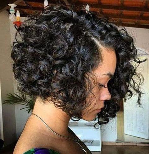 Curly short bob for black women in 2020