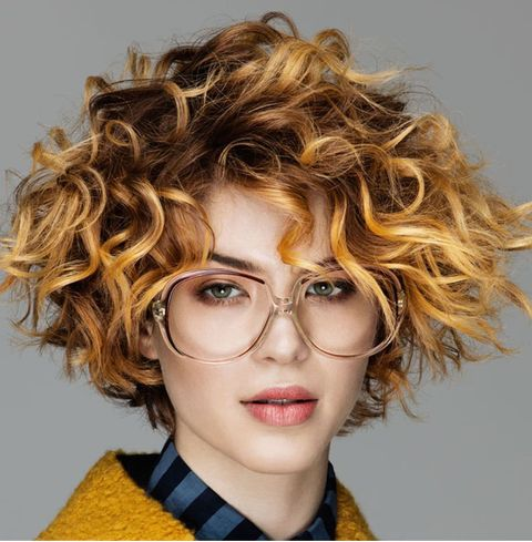 Highlight brown color curly hair 2021-2022